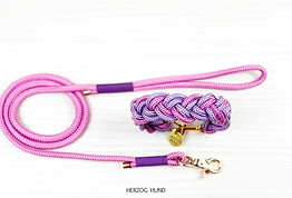 Flechthalsband Granny Pink x Lilac