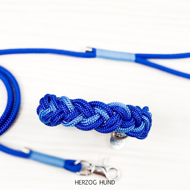 Flechthalsband Marine x Sky Blue