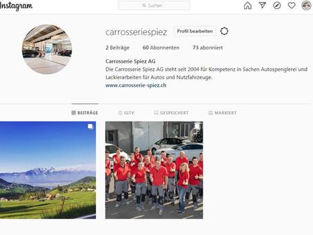 Wir haben nun auch Instagram