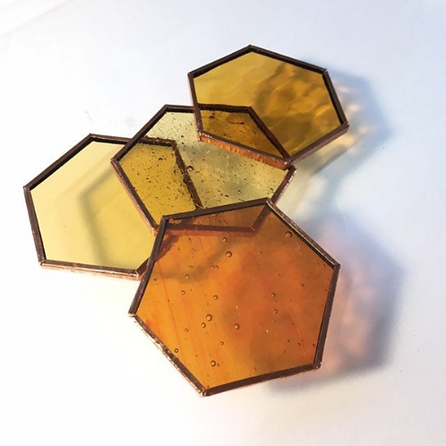 Prefoiled Hexagons (Amber Mix)