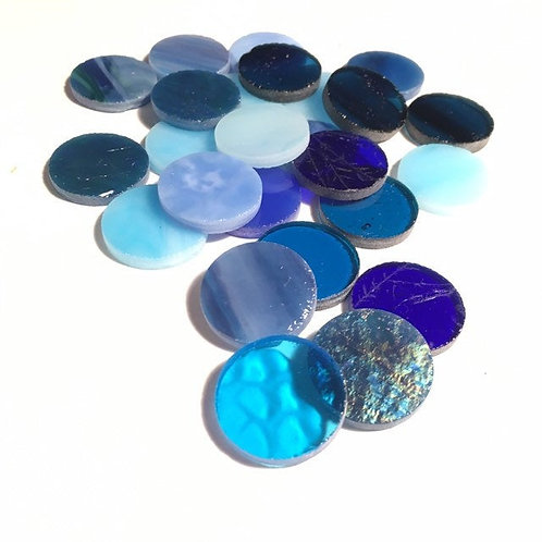 Winter Blue Mix Circles PRECUT OF THE MONTH 25% OFF
