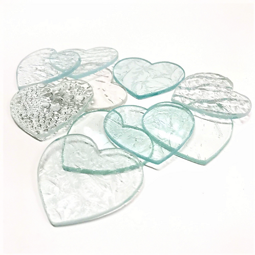 Clear/Textured Hearts