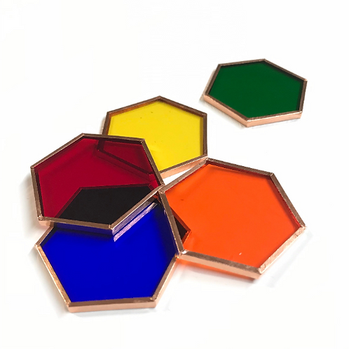 Prefoiled Hexagons (5 Color Choices)