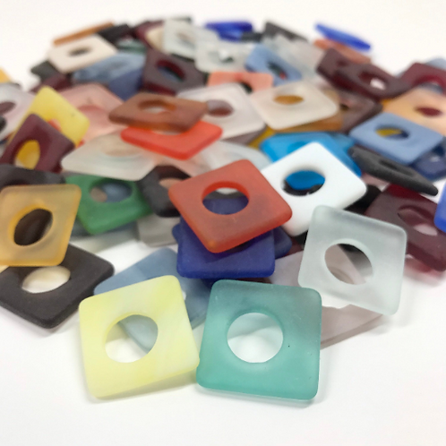 Hole-in-One Sea Glass Squares (Variety Color Mix)