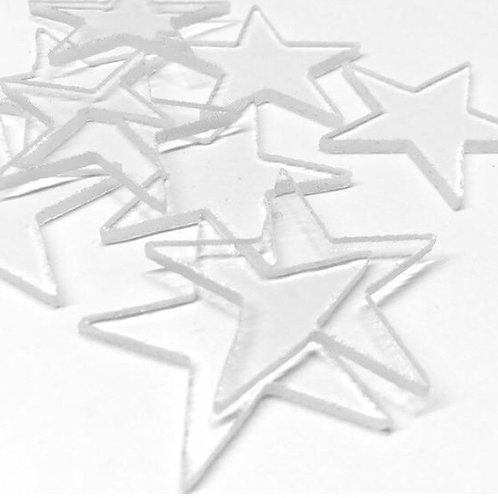 Clear Glass Precut Stars