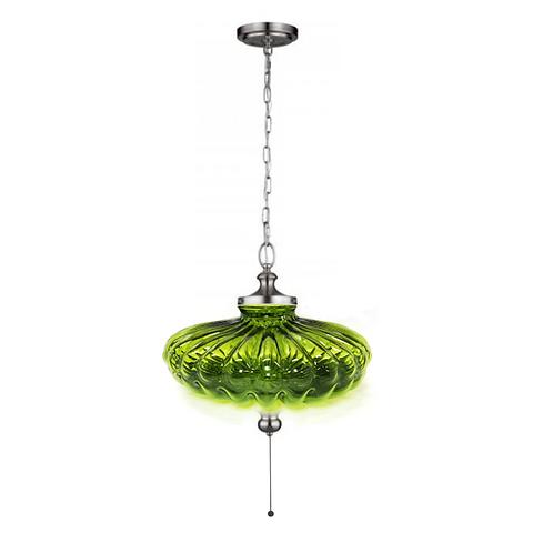 Green Mid-Century Pendant Lamp