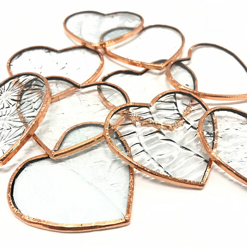 Prefoiled Clear/Textured Hearts