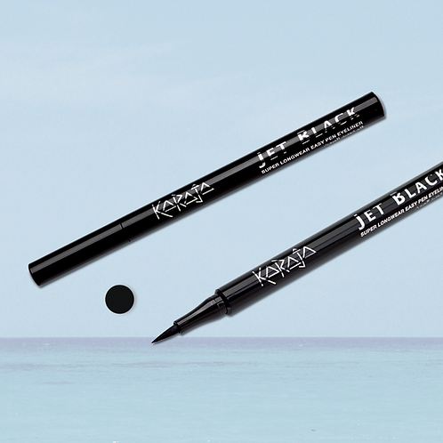 Jet Black - Eyeliner Pennarello - Tratto Facile ed Intenso - No Transfer - Super