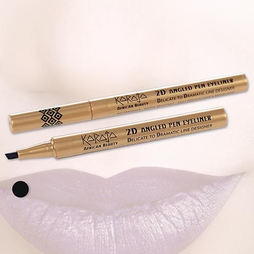 2D Angled Pen Eyeliner - Delineatore Occhi e Sopracciglia - No Transfer - Water