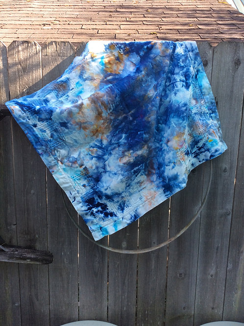 Vintage Levis Hand-Dyed Table Cloth