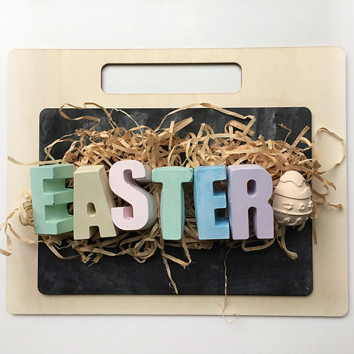 Timber Chalkboard and 'EASTER' Chalk Set