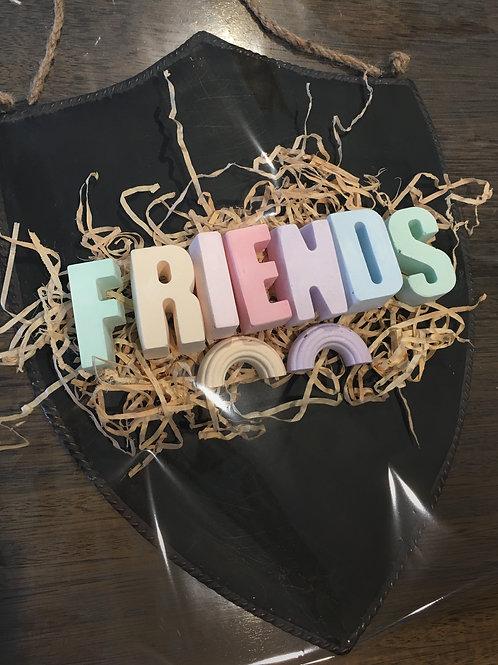 'FRIENDS' Chalk Set with Large Chalkboard