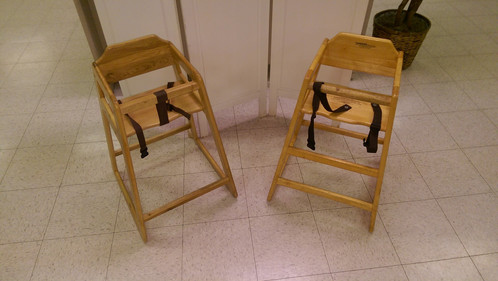 Restaurant Style Wooden High Chair wooden high chair - restaurant style   school of harmony