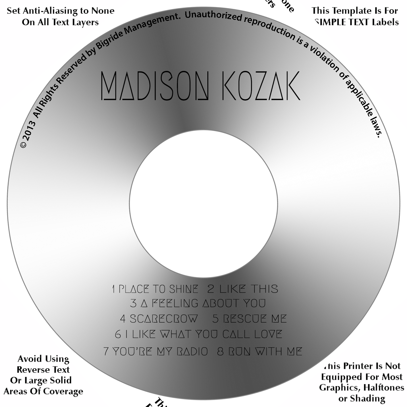 Madison Kozak CD Cover