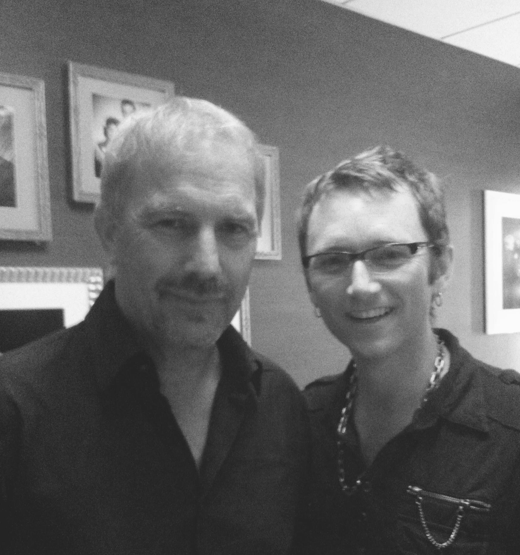 Kevin Costner and Jay Riehl