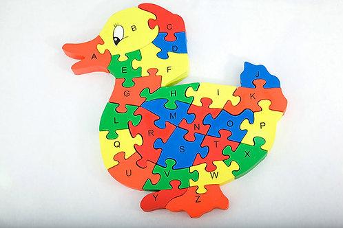Alphabet & Number Puzzle - Duck