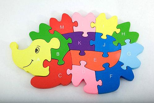 Alphabet & Number Puzzle - Hedgehog