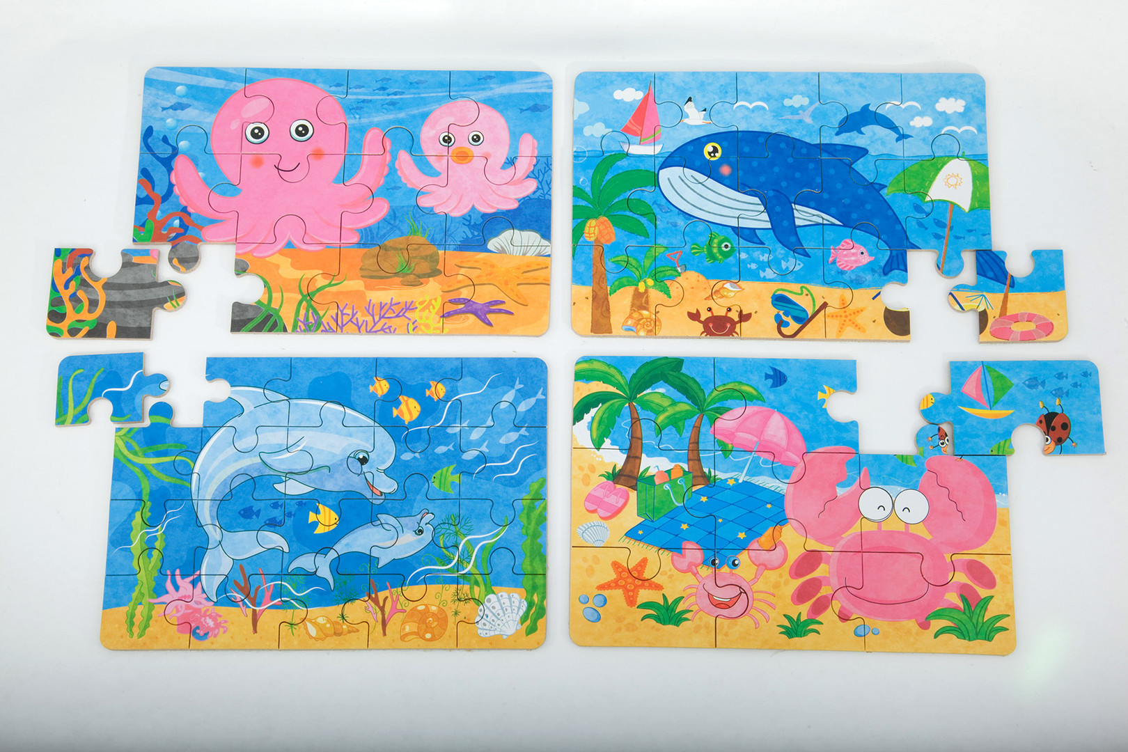 Tin puzzle - octopus dolphin crab whale