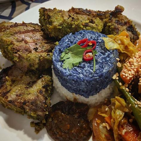 Australia Day BBQ Lamb and True Blue Coconut Rice