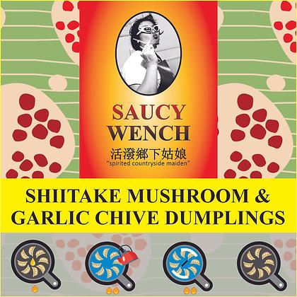 Saucy Wench Handmade Shiitake & Chive Dumplings (Frozen; Vegan)