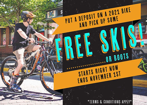 Free skis or boots deal website banner -