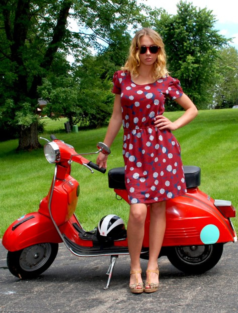 W poppies dress scooter