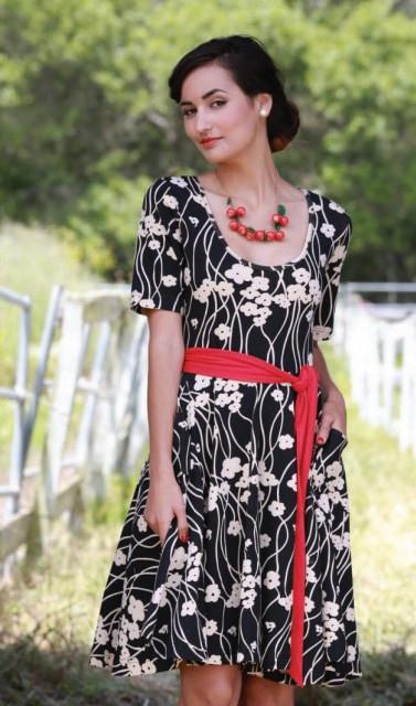 Rachel Dress in Perennial Print