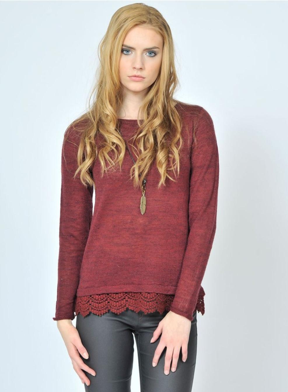 woodstock-burgundy sweater pink maritni