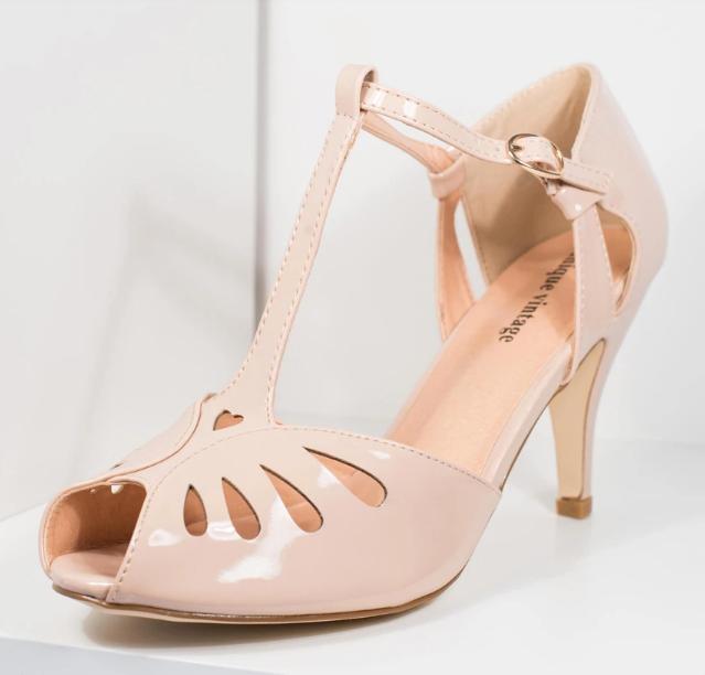 Unique Vintage, $64 nude shoes