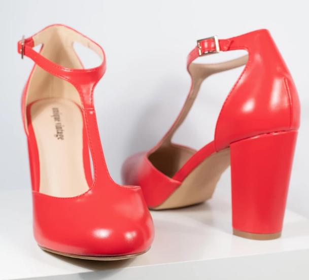 Unique Vintage, $64 red heel shoes