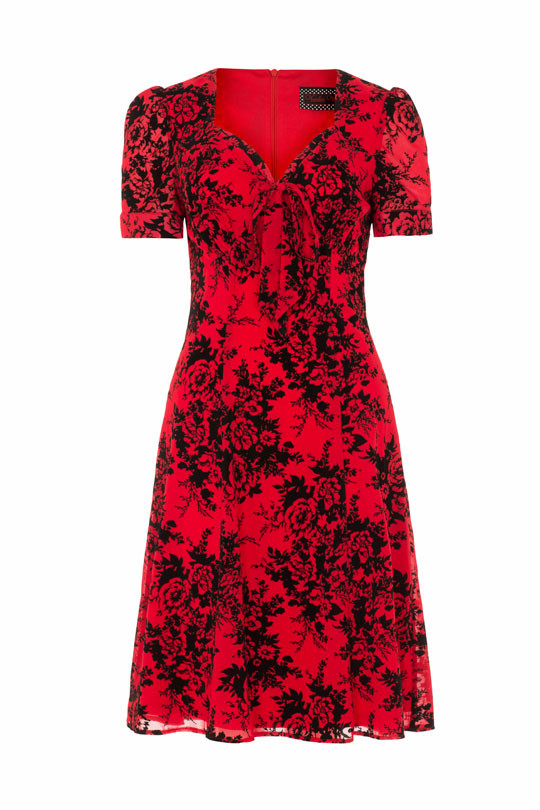 Voodoo Vixen Red floral dress