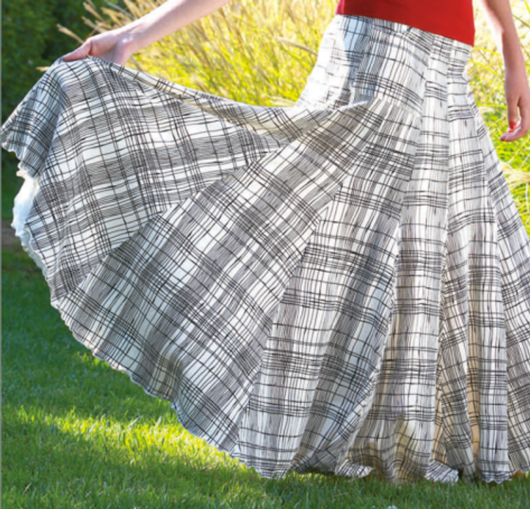 Gibson Skirt in Summer Plaid, $68