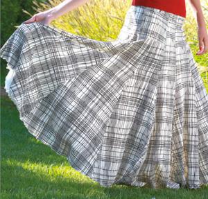 Gibson Skirt in Summer Plaid, $68