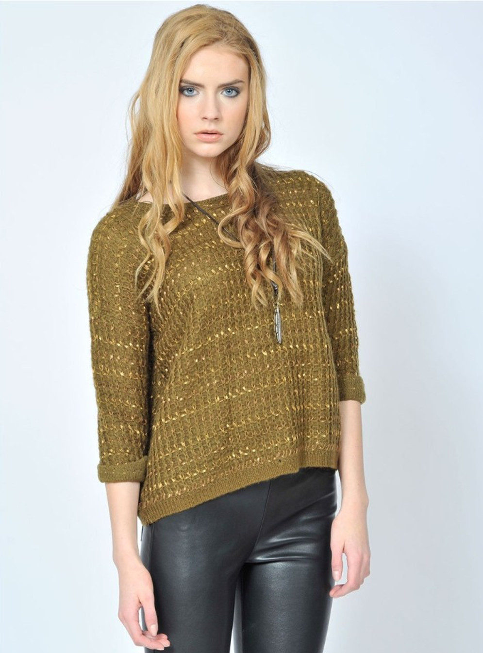 all-eyes-on-me-olive sweater Pink Martini