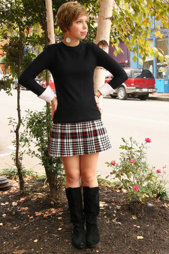 Plaid Skirt Dress2