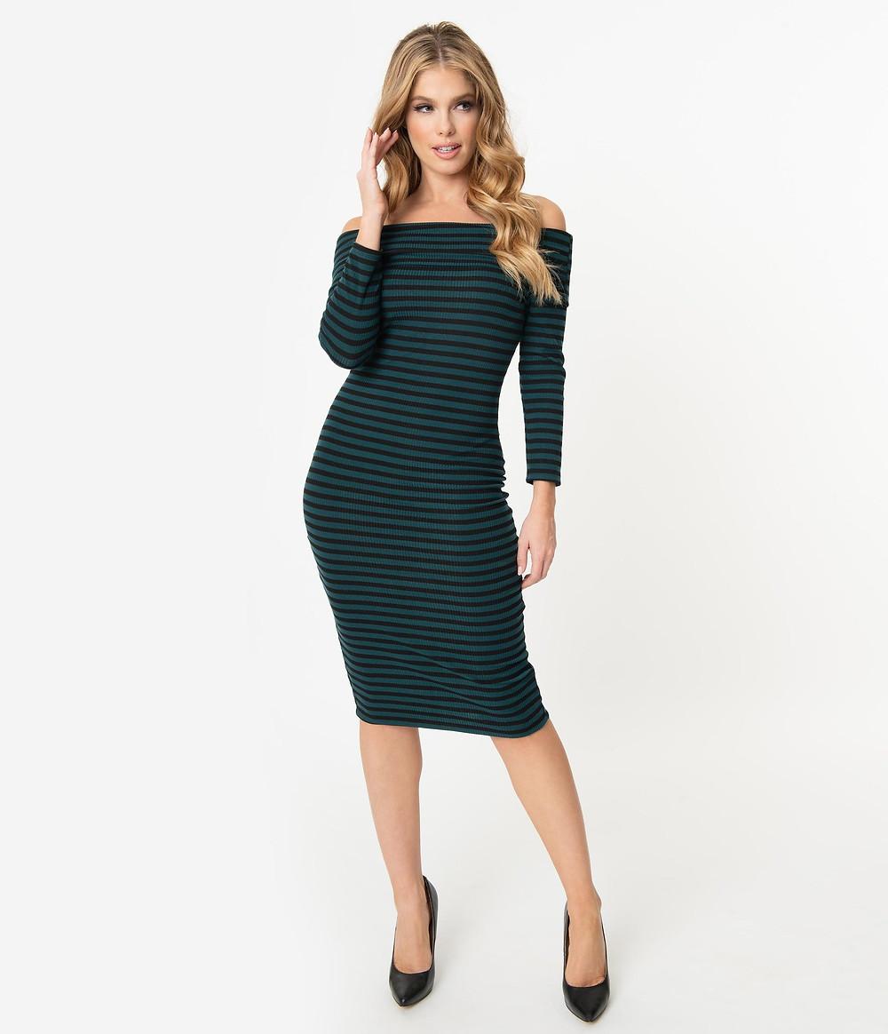 Unique Vintage, $74 striped dress
