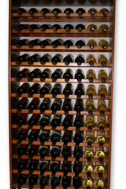96 Bottle Pine Wine Rack