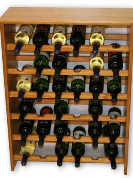 36 Bottle Pine Wine Rack