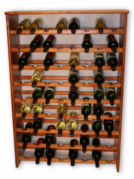 72 Bottle Pine Wine Rack