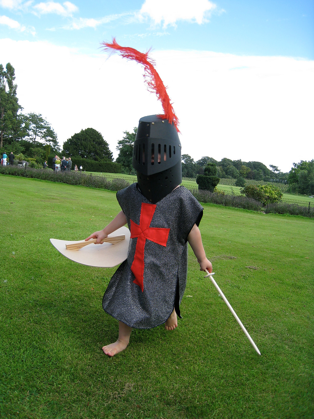 Child in Crusader Knight costume