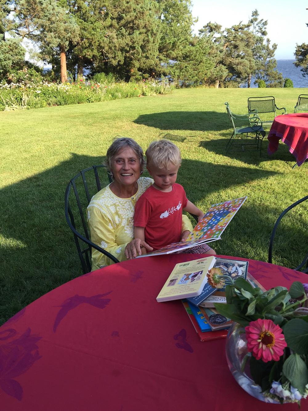 Chantal Berman and grandson