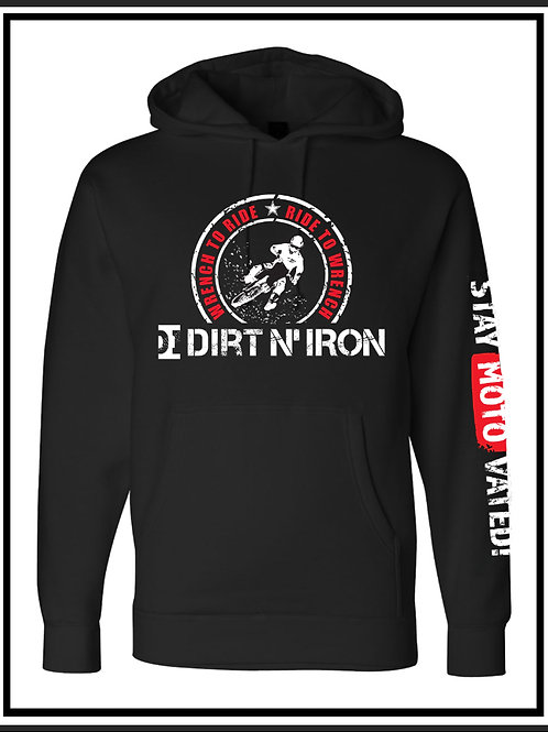 Wrench to Ride with printed sleeve - hoodie