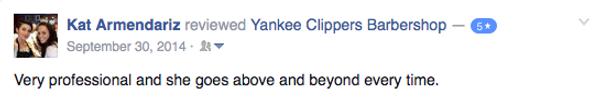 yankee clippers barbershop reviews
