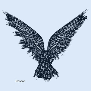 black-and-red-raven-vector-id1043238340