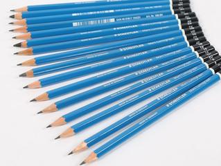 Escolha o lápis certo para cada etapa do desenho