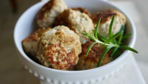 Lemon- Rosemary Meatballs | Gluten Free, Dairy Free