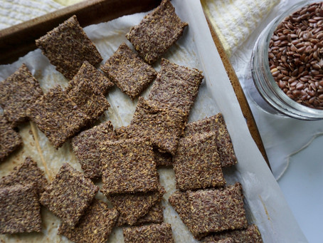 The Easiest Flax Cracker Recipe