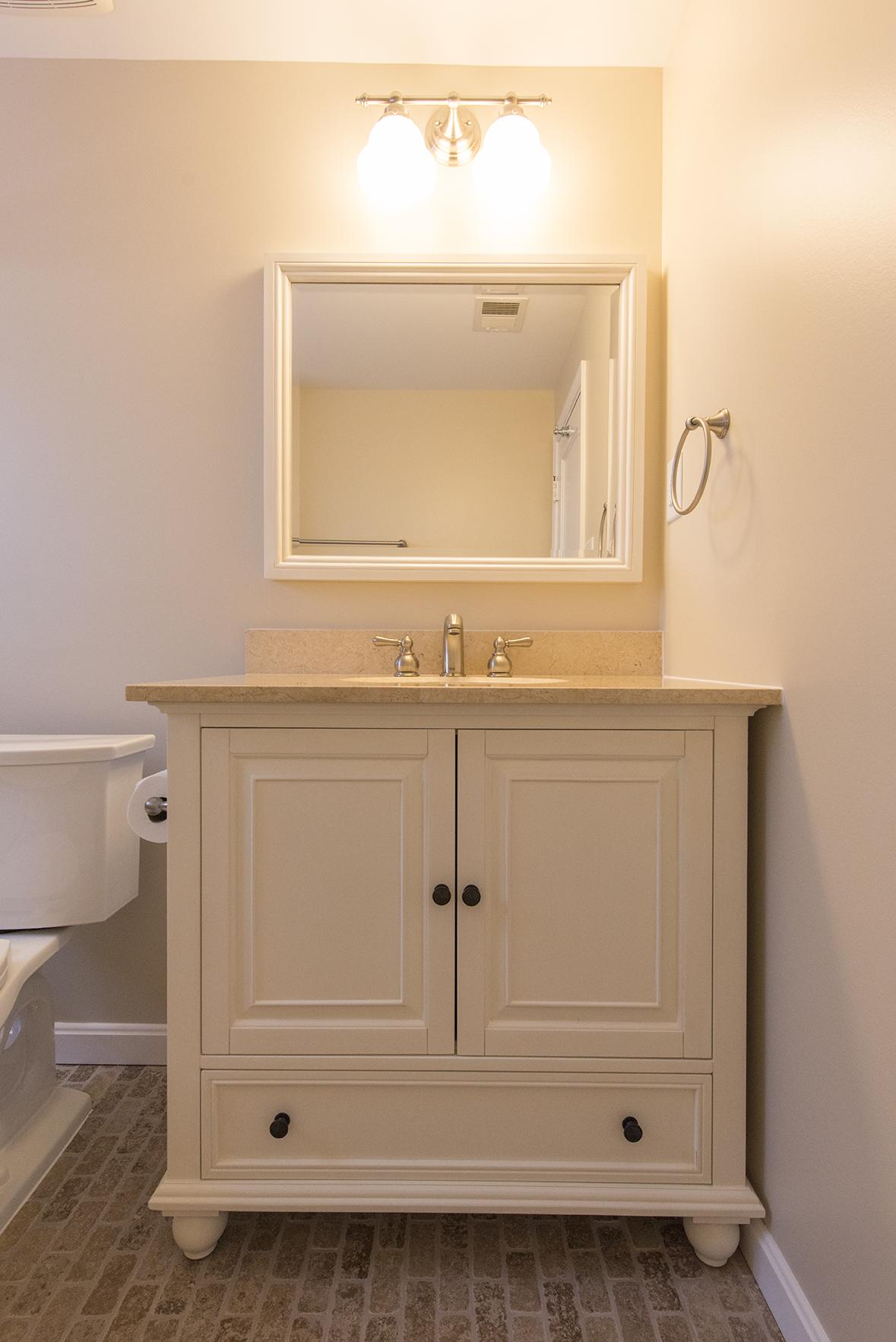 white vanity marble top