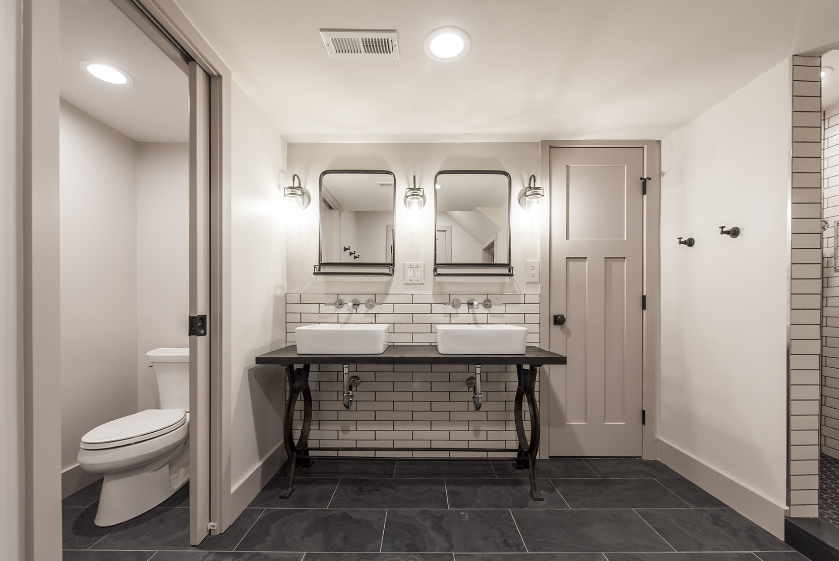 industrial craftsman bathroom