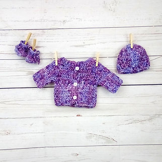 "Ensemble ""Chiné"" Violet"
